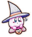 Inktober 13 - Witch Kirby