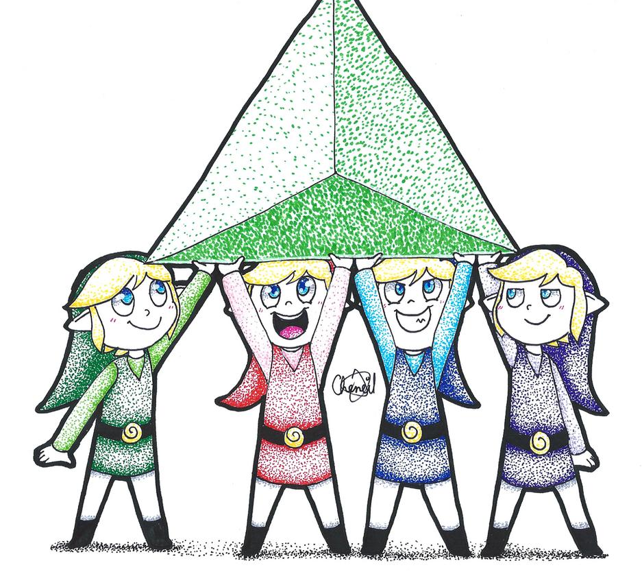 Inktober 26 - Four Swords Adventures by Chenanigans