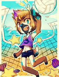 Commission: Strive - Beach Volleyball by Jotaku