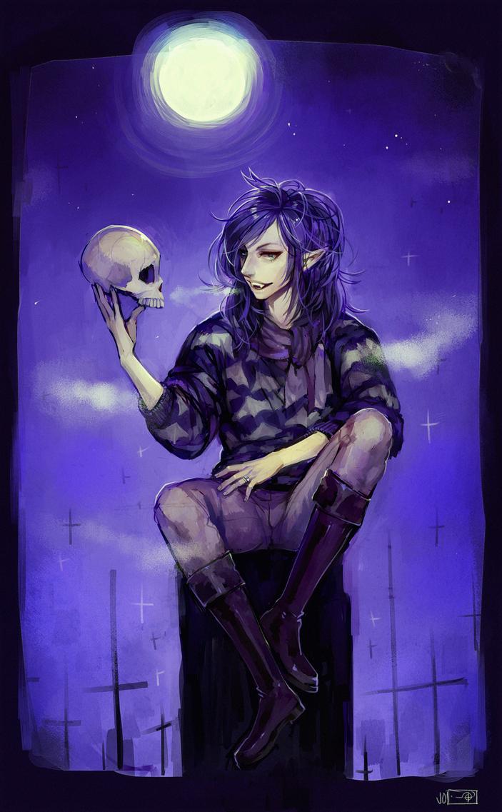 ::Commission:: Halloween // elissinia by Jotaku