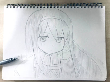 Hand-sketched Homura