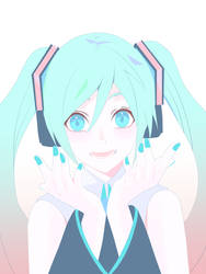 Step-by-step Hatsune Miku Illustration Part 4