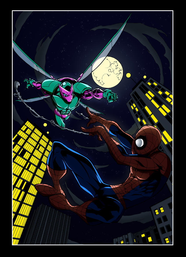 Spiderman VS Beetle by UniqSchweick12