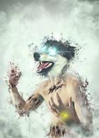 Blue Eyed Beast by UniqSchweick12