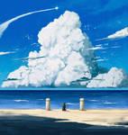 Cloudy Seashore