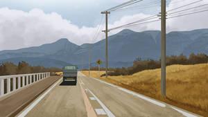 Drive through the Mountains