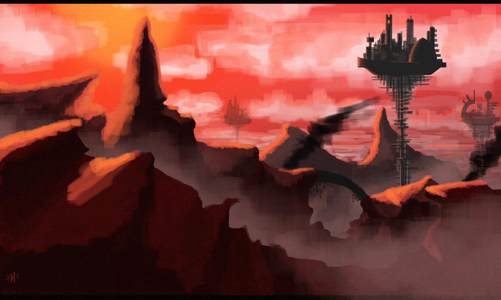 Mars Colony Landscape Practice by rainboy666 on DeviantArt