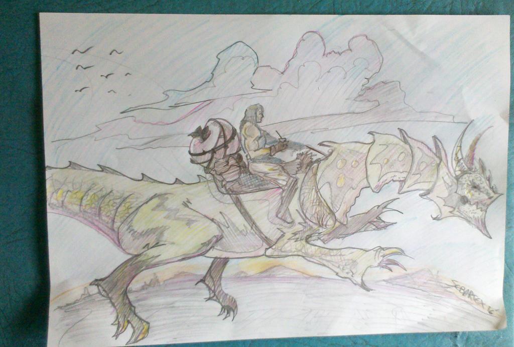 Argentino tomando mate en su dragon  sin alas.... by sebartex