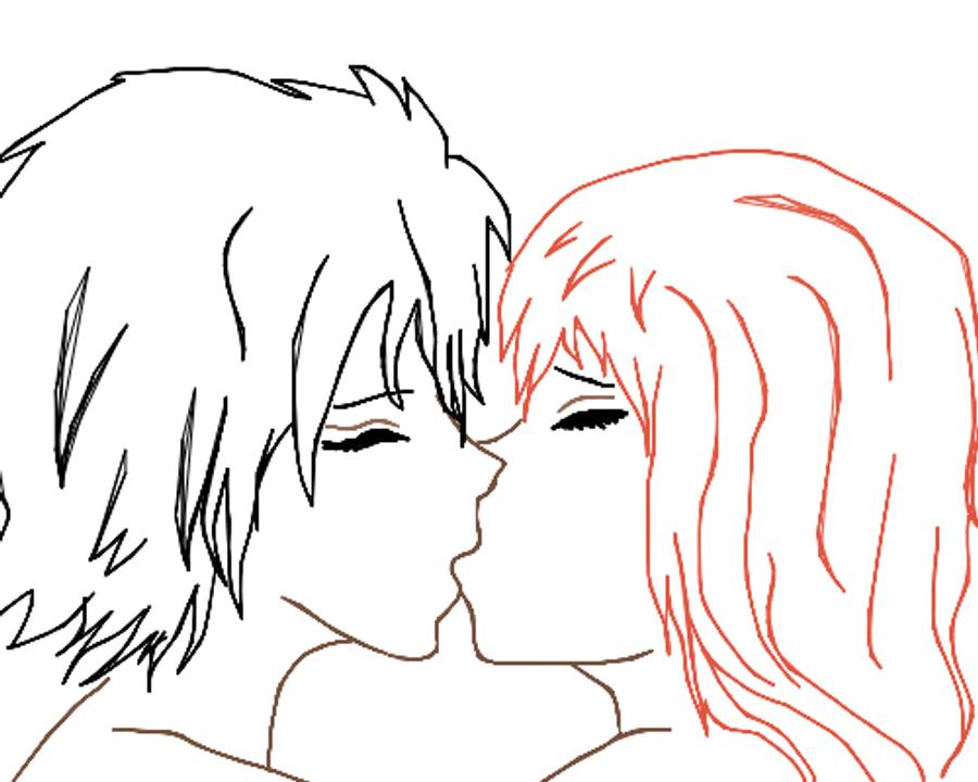 anime base kiss by frekkxx on DeviantArt