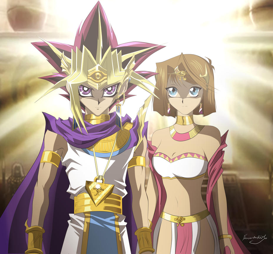 Atem and Teanna by Ferrlm