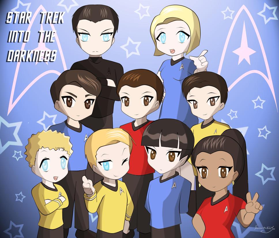 Star Trek Chibi by Ferrlm