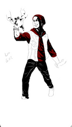 Attack on Delsin w.i.p by aWildBowTie