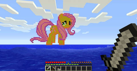 Fluttershy on Minecraft