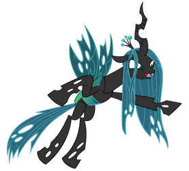 A quick Queen Chrysalis vector