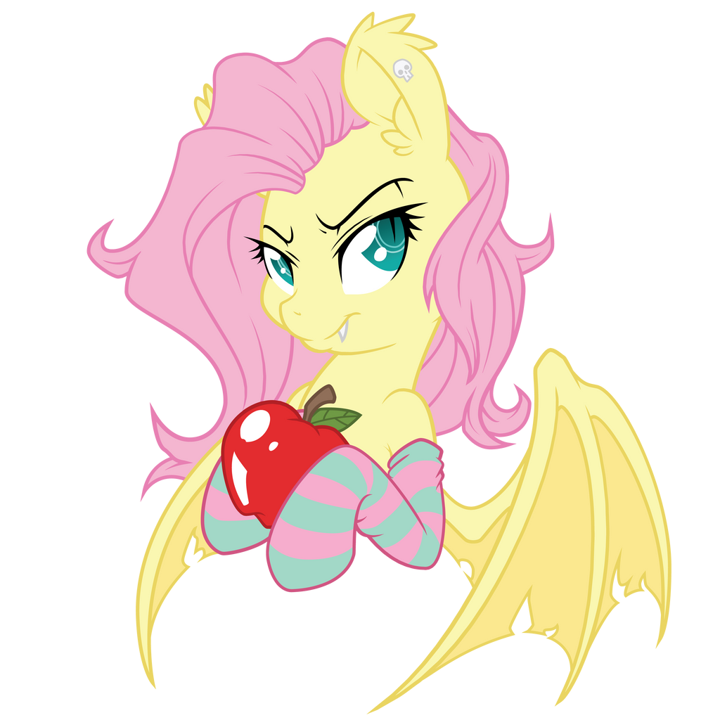 Hallowed Flutterbat Vectorization - Regular Colors by FluttershyElsa