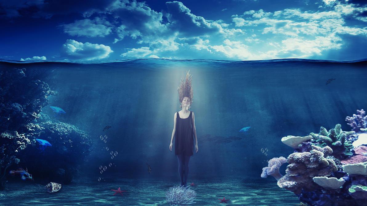 Underwater fantasy photo manipulation by mariika2014