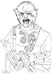 Ork warrior by Omadart