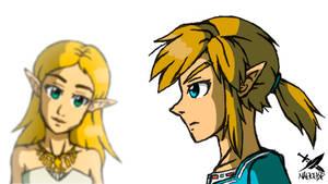 Zelda y Link - Breath of the Wild