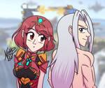 Pyra y Sephiroth - Super Smash Bros Ultimate
