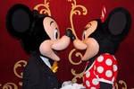 Mickey kissing Minnie