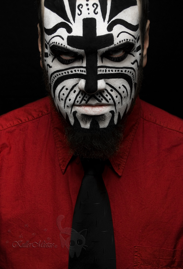 face paint RED by KuLL...