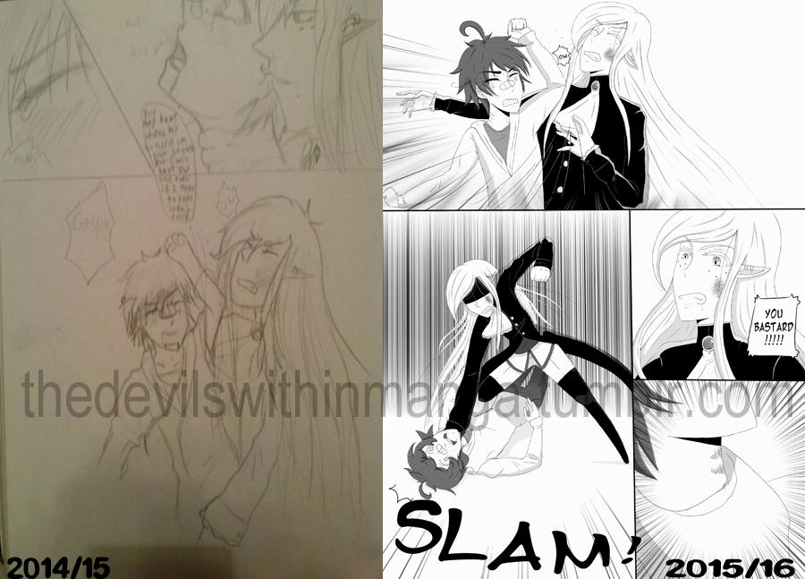Art improvement (Manga page TDW) by cutecat54546