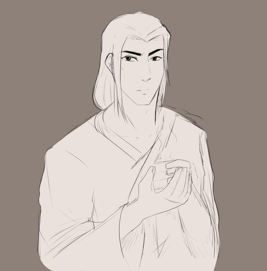 Young Hanzo sketch by cutecat54546