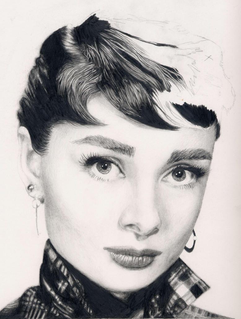 Audrey Hepburn WIP by TheAmused