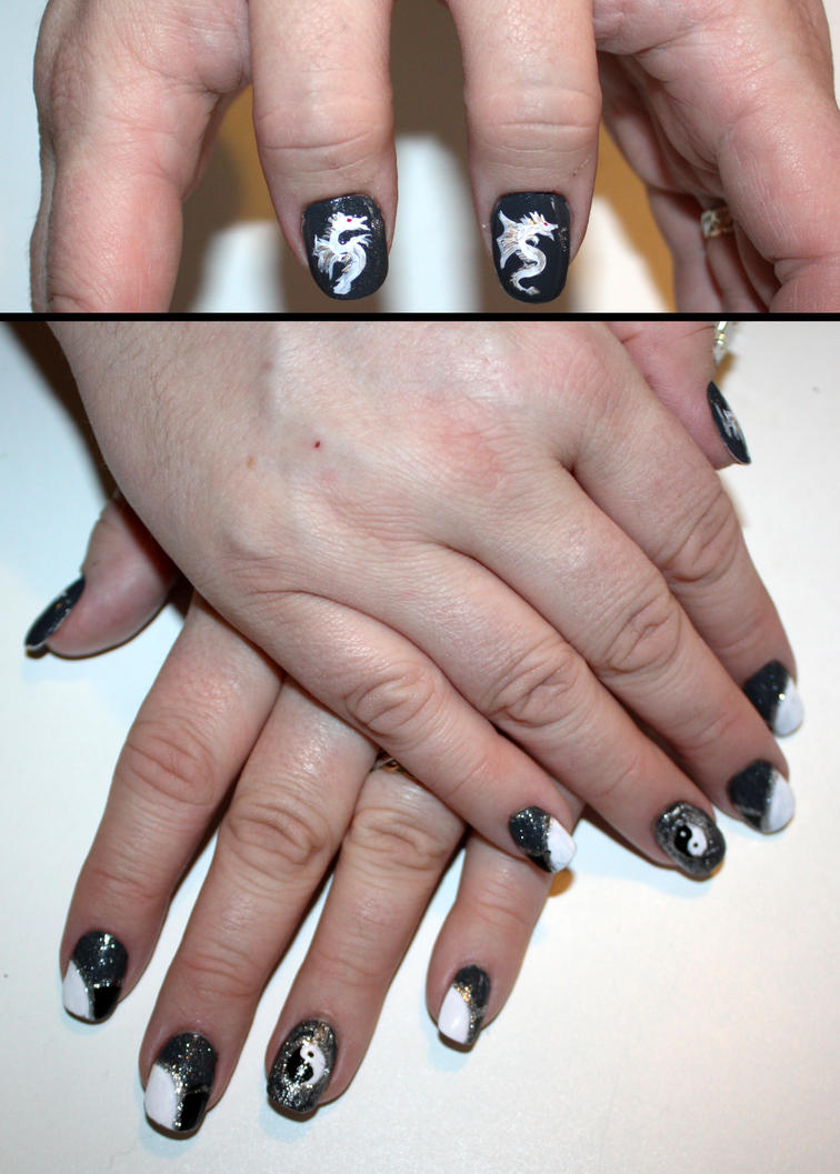 Year of the Dragon Nail Art by elvaniel ... - Year Of The Dragon Nail Art By Elvaniel On DeviantArt