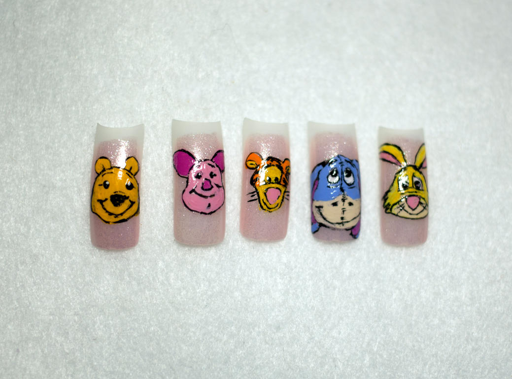 Winnie The Pooh Nail Art By Elvaniel On Deviantart