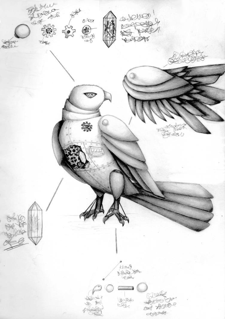 Steampunk Hawk by elvaniel