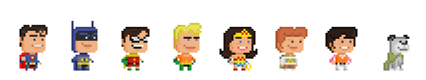 DC - Super Friends Season 1 by Pixelfigures