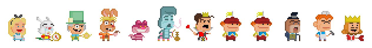 Alice in Wonderland by Pixelfigures