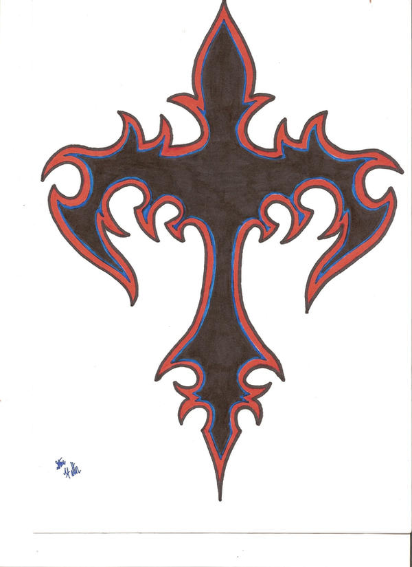 tribal cross by midnightblood7 on deviantart. Black Bedroom Furniture Sets. Home Design Ideas