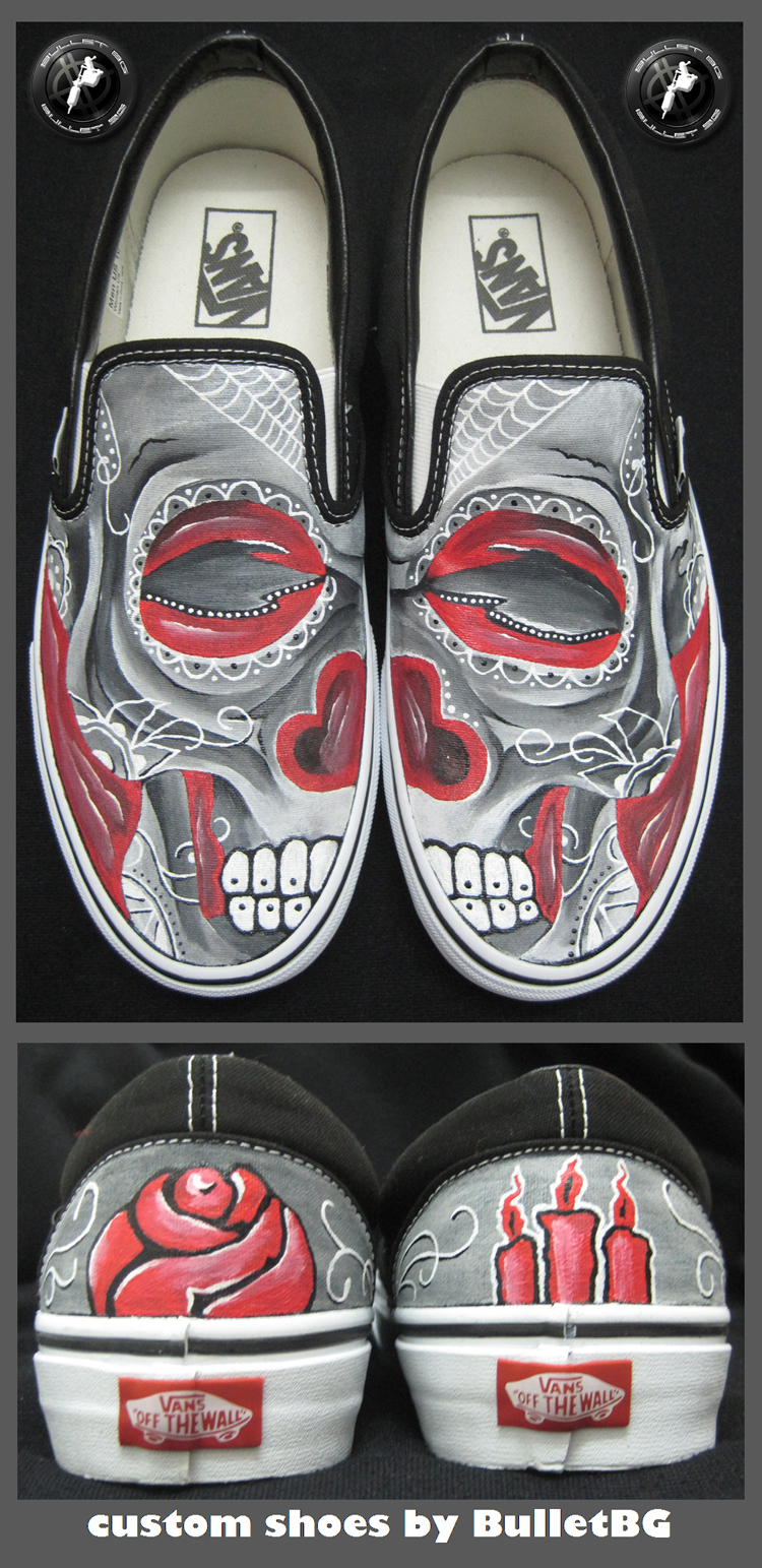custom shoes by bullettattoobg