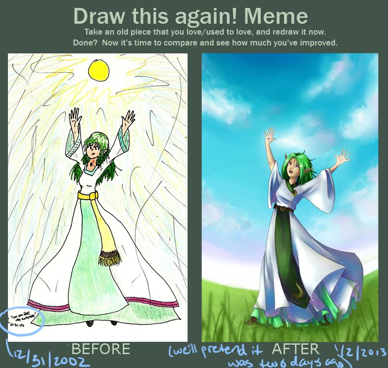 Draw this again meme - Little Navi style by shadowednavi