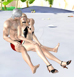 Dante x Trish Married on the beach