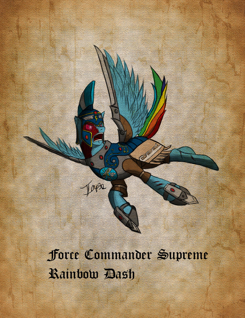 Stormwing - Force Commander Supreme Rainbow Dash by Imperial32