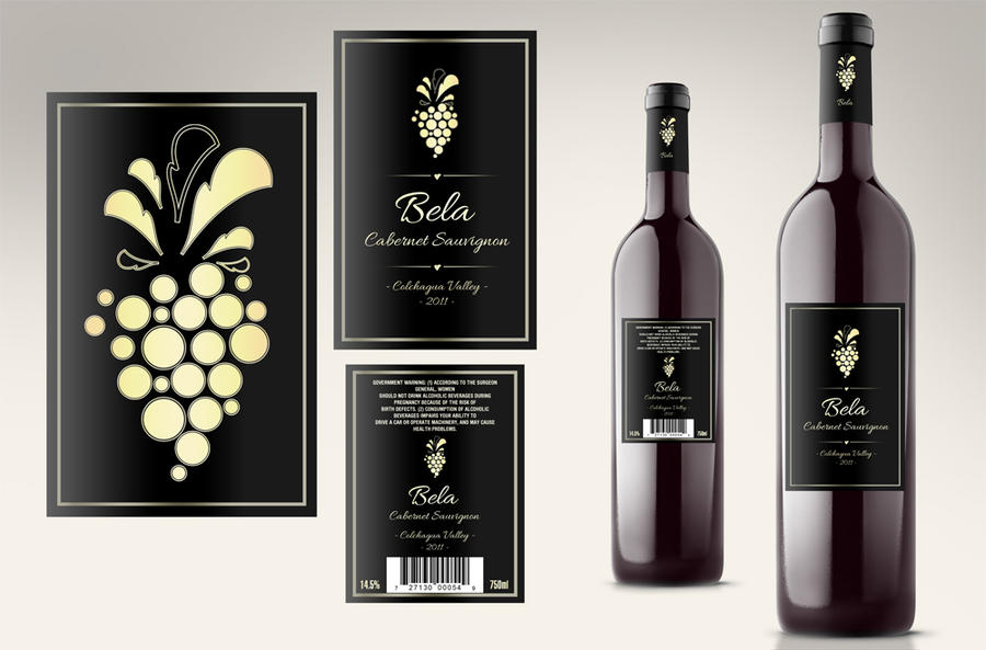 Wine Label By Loreelamia On Deviantart