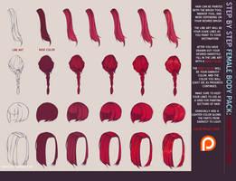 SBS: Hair Tutorial by rohioart
