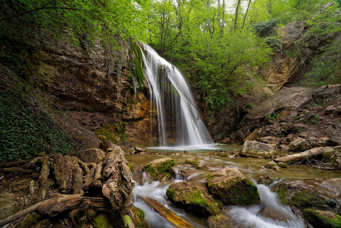Crimea waterfalls. Djur-Djur. by my-shots