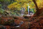 River Ulu-Uzen. Waterfall Djur-Djur.