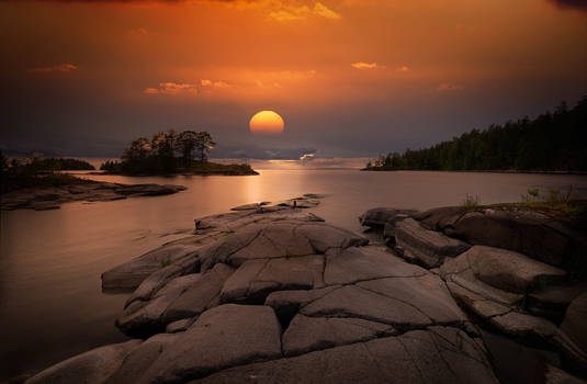 Ladoga lake. Valaam islands