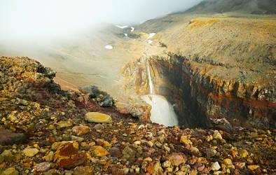 Mutnovsky volcano. Waterfall -Opasny-
