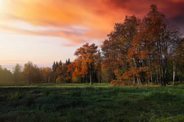 Autumn. Evening.