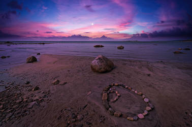 Twilight. Solovetsky islands.