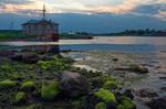 Solovetsky islands. Twilight. Low tide.