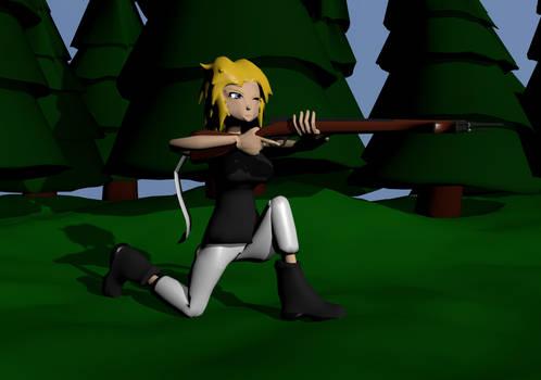Sasha armed and ready