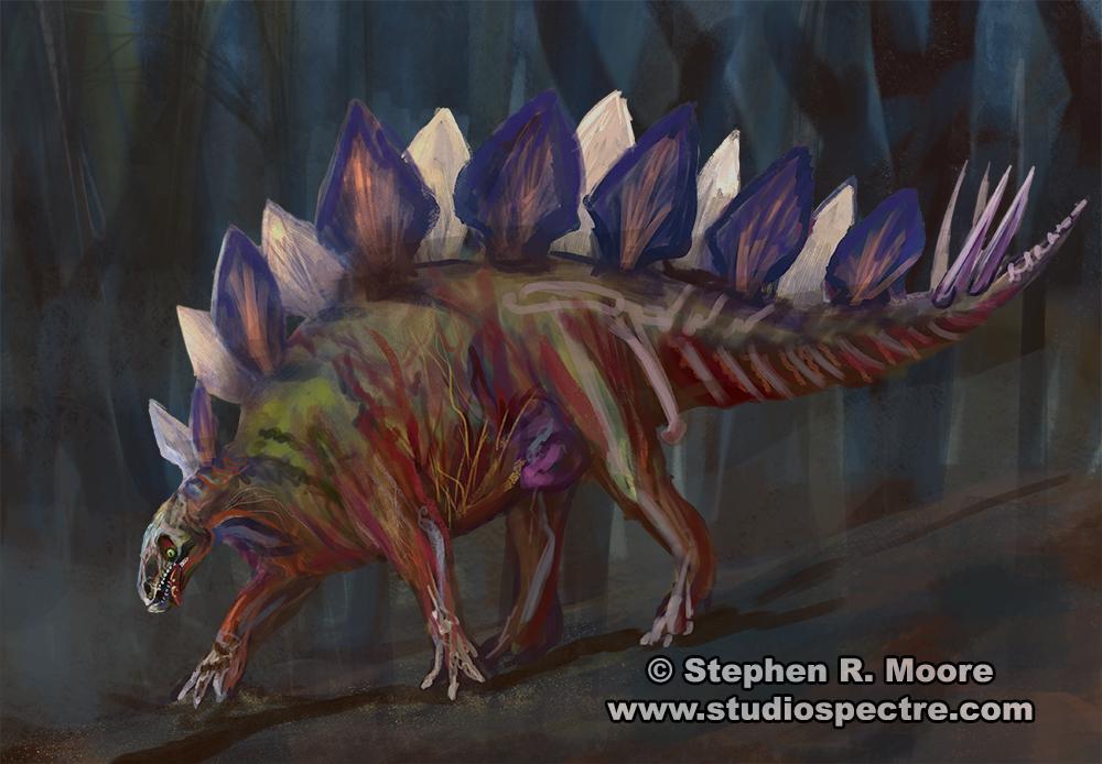 Zombiestegosaurus by StudioSpectre