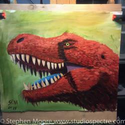 Tarbosaurus Portrait Dinovember 2015`